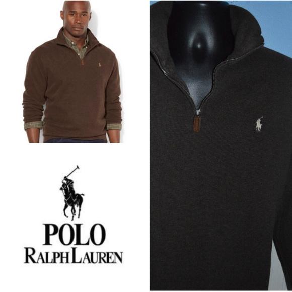 Activewear Mens Polo Ralph Lauren Hoody Jumper Size S Brown